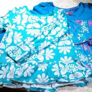 2 pc Girls Bundle Long Sleeve Skirted T Shirts 4T